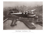 China Clipper, San Francisco, California, 1936 Wallsticker af Clyde Sunderland