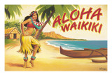 Aloha Waikiki Wall Decal by Kerne Erickson