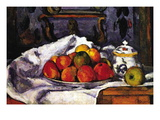 Still Life Bowl of Apples Wall Decal by Paul Cézanne