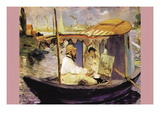 Claude Monet Dans Son Bateau Atelier Wall Decal by Édouard Manet