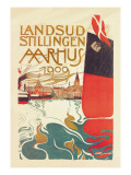 Landsud Stillingen Aarhus Wall Decal by Valdemar Andersen