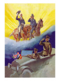 Pershing's Salute Wall Decal