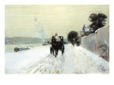 Along The Seine Wall Decal by Childe Hassam