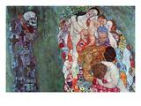 Tod und Leben (Gold) Wandtattoo von Gustav Klimt