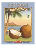 Coconut Muursticker van Kerne Erickson