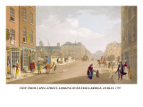 View from Capel-Street, Looking over Essex-Bridge, Dublin, 1797 Wall Decal by James Malton