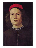Portrait of a Young Man with Red Cap Wall Decal by Sandro Botticelli