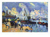 Seine At Bercy Wall Decal by Paul Cézanne
