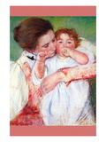 Anne Klein, From The Mother Embraces Wall Decal by Mary Cassatt