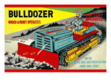Bulldozer Which a Robot Operates Wall Decal