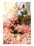 Roses of Heliogabalus Wallstickers af Sir Lawrence Alma-Tadema