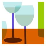 Wine Pair Wallstickers