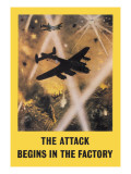 The Attack Begins in the Factory Wall Decal by Roy Nockolds