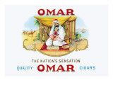 Quality Omar Cigars Wall Decal