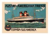 Austro-Americana Trieste Cruise Line Wall Decal
