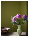 Olive Ambiance, Plum Dahlias Wall Decal