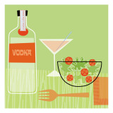 Vodka and Salad Wall Decal