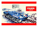 Gama 9940 Space Tank Wall Decal