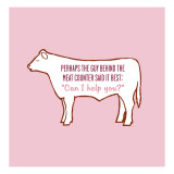 Meat Counter Car Wall Decal