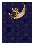 Victorian Child on Crescent Moon Wall Decal