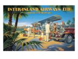 Liaison Honolulu- Hawaii Adhésif mural par Kerne Erickson
