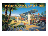 Inter-Island Airways Muursticker van Kerne Erickson