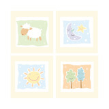 Baby Comforts Four Patch Autocollant mural