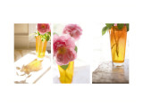 Rose in Amber Vase Triptych Wall Decal