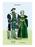 Henry VIII and Ann of Cleeves Wall Decal by Richard Brown
