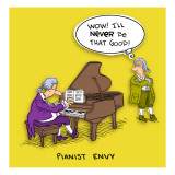 Pianist in Wig - Duvar Çıkartması