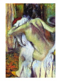 After Bathing Autocollant mural par Edgar Degas
