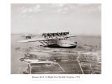 Dormier Do-X volant au dessus de Norfolk en Virginie, 1931 Adhésif mural