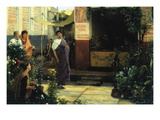 The Flower Market Wall Decal by Sir Lawrence Alma-Tadema