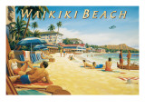 Waikiki Beach Wall Decal by Kerne Erickson