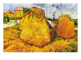 Haystacks In Provence Wall Decal by Vincent van Gogh