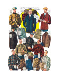 Men's Shirts, Sweaters, and Wind Breakers Wall Decal
