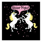Unicorn Glitter Fight Wall Decal