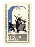 Concert Hall Trio Wall Decal