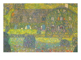 House In Attersee Wall Decal by Gustav Klimt