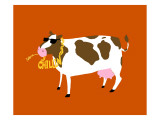 Funny Cow Chillin Wall Decal
