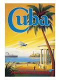 Visit Cuba Muursticker van Kerne Erickson