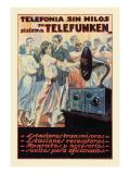 Telefonia Sin Hilos Sistema Telefunken Wall Decal