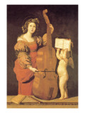 Cherub Holds Music Book for Woman Playing the Cello Wall Decal