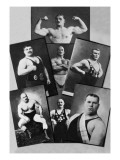 Seven Bodybuilding Champions Adhésif mural