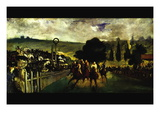 Race At Longchamp By Edouard Manet Wall Decal by douard Manet