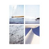 Sailing Four Patch Wall Decal