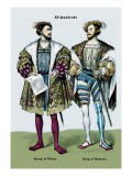 Henry of Ulbert and the King of Navarre, 16th Century Wall Decal by Richard Brown