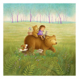 Going on a Picnic with Mama Bear Wallstickers