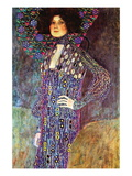 Portrait of Emily Fidge Vinilo decorativo por Gustav Klimt