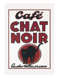 Cafe Chat Noir Wall Decal
